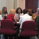 Facing: Carmel Shalev, Marcy Darnovsky, Loretta Ross
